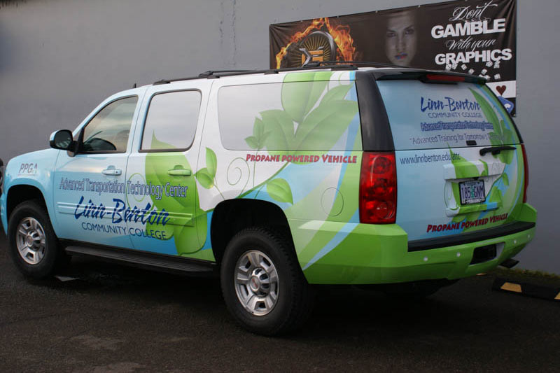 LBCC Advanced Transportation Technology Center Vehicle Wrap by Xtreme Grafx in Albany, Oregon