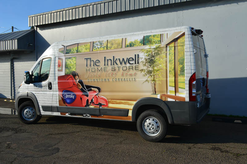 Inkwell Home Store Vehicle Wrap by Xtreme Grafx in Albany, Oregon