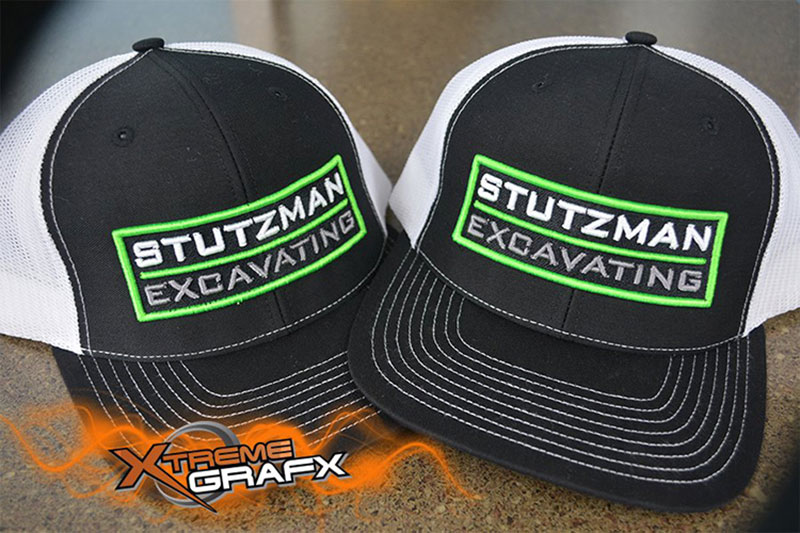Stutzman Excavating Hat Embroidery at Xtreme Grafx in Albany, Oregon