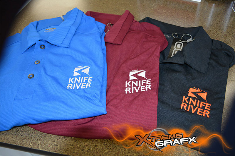 Knife River Embroidery at Xtreme Grafx in Albany, Oregon