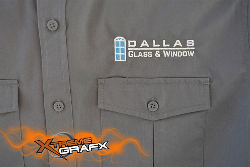 Dallas Glass & Window Embroidery at Xtreme Grafx in Albany, Oregon