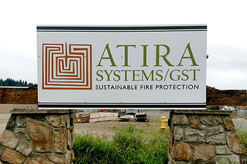 Atira Systems/GST Sign at Xtreme Grafx in Albany, Oregon