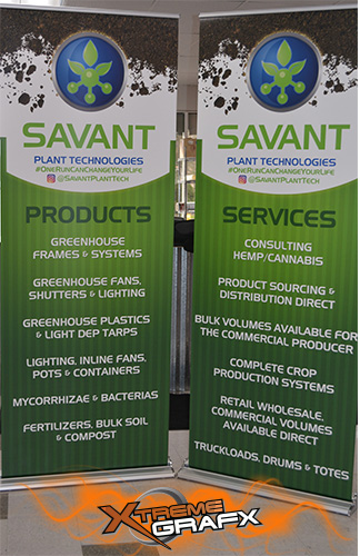 Savant Trade Show Retractable Trade Show Display at Xtreme Grafx in Albany, Oregon